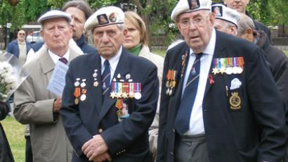 Group of British North Atlantic Convoy veterans (RIA Novosti / Artur Alexandrov)