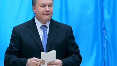 Ukrainian President Viktor Yanukovych. (AFP Photo / Andrey Mosienko)
