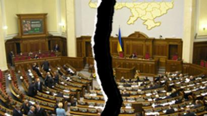 Ukraine split by gas row