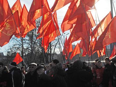 Russian Communist Party supporters (RIA Novosti / Vladimir Vyatkin)