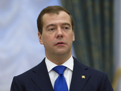 Russian president Dmitry Medvedev. (RIA Novosti / Sergey Guneev)