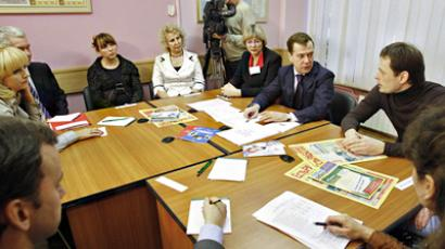 Medvedev calls on Duma parties for more involvement in tackling unemployment