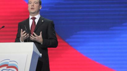 Medvedev urges United Russia to report to voters