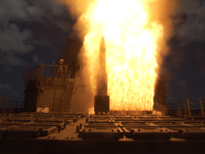 Russia has warned that the US missile defense system in Europe could spark another arms race. Reuters /  U.S. Navy / Handout