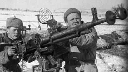 Soviet soldiers in WWII, archive photo
