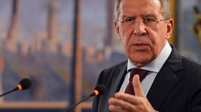 Russian Foreign Minister Sergey Lavrov. (AFP Photo / Aamir Qureshi)