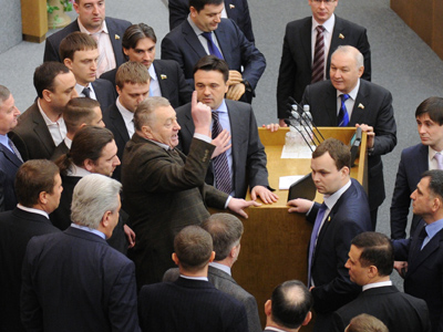 Duma debacle: Zhirinovsky reaches for his pitchfork