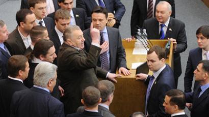 Zhirinovsky predicts war, promises prison for opponents
