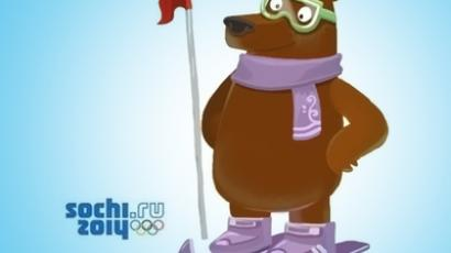 Polar Bear and Father Frost compete for votes of Olympics fans