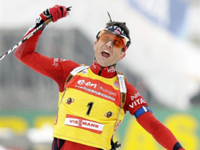 Berger and Björndalen victorious at home