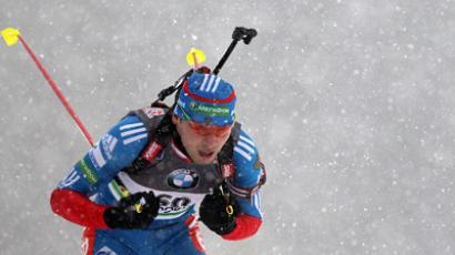 Russian biathlete takes sprint gold at Holmenkollen