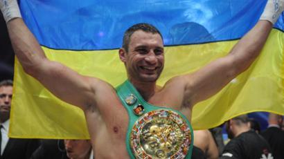 Ukrainian boxer Vitali Klitschko (AFP Photo / Vladimir Astapkovich)
