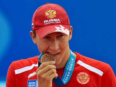 Russian open-water swimmer claims bronze at 10km event in Shanghai