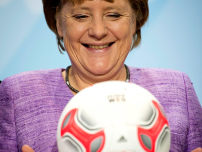 Chancellor Merkel urges gay footballers to come out