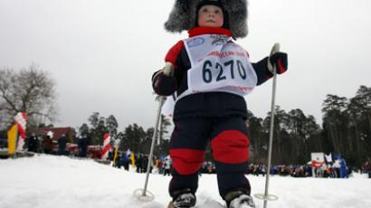 Young participant at the Russian Trail ski race (RIA Novosti/Maksim Bogodvid)
