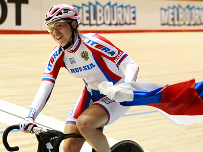 Chulkova wins Russia's first track world cycling gold in seven years