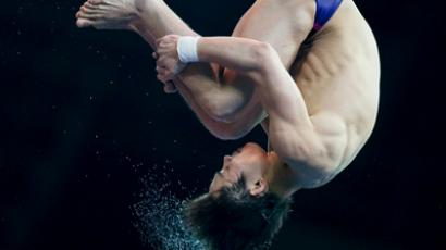 Russian duo win home synchronized diving event