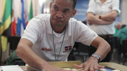 Newly crowned domino world champion  Joaquin Martinez of Dominican Republic (RIA Novosti / Michail Mokrushin)