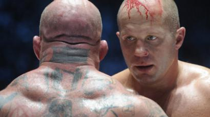 Mixed Martial Arts fight between Feodor Emelianenko (R) and Jeff Monson (RIA Novosti / Aleksey Druzhinin)