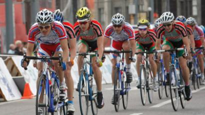 The final leg of the Five Rings of Moscow cycling race. (RIA Novosti / Pavel Lysizin)