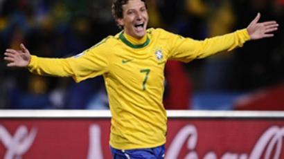 Brazil's midfielder Elano (AFP Photo / Fabrice Coffrini)