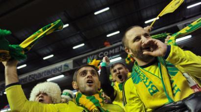 Anzhi Makhachkala supporters (RIA Novosti/Vladimir Pesnya)