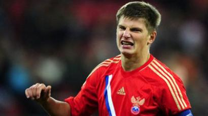 Russia's Andrey Arshavin reacts during their Euro 2012 friendly football match Greece vs Russia in Athens on November 11, 2011 (AFP Photo / ARIS MESSINIS)