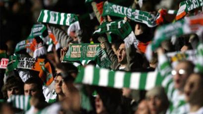 Celtic supporters. (AFP Photo/Paul Ellis)