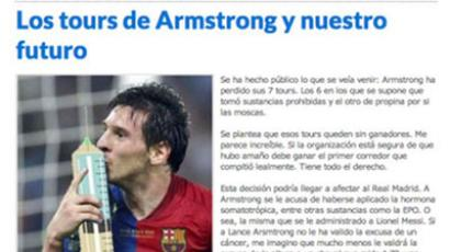 """Armstrong's Tours and our future"" article (Screenshot from defensacentral.com)"