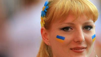 Ukraine's national team supporter (AFP Photo/ Odd Andersen)
