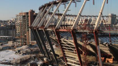 Reconstruction of Olympiysky National Sports Complex in Kiev, February 28, 2011 (RIA Novosti / Grigoriy Vasilenko)