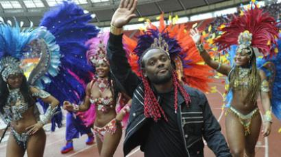CSKA Moscow's former forward, Vagner Love, says farewell to fans in summer 2012. (RIA Novosti / Alexey Kudenko)