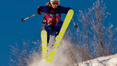 Female freeride competition at Sheregesh (Image from sheregirls.ru)