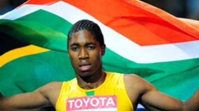 South Africa's Caster Semenya competes in the women's 800m final race of the 2009 IAAF Athletics World Championships on August 19, 2009 in Berlin (AFP Photo / Franck Fife)