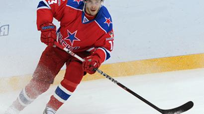 CSKA player Pavel Datsyuk in the regular season Kontinental Hockey League match. (RIA Novosti / Vladimir Fedorenko)