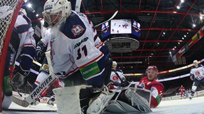 The regular season Kontinental Hockey League match between hockey teams Lokomotiv  and Torpedo. (RIA Novosti / Jaroslav Neelov)