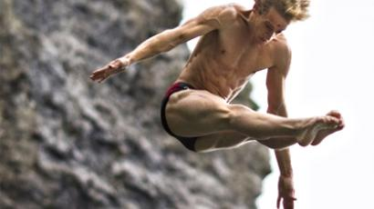 Cliff diving making splash for Olympic recognition
