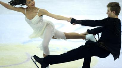 Russia's Elena Ilinykh and Nikita Katsalapov performing a free dance at the 2012 World Figure Skating Championships in Nice, France. (RIA Novosti/Alexander Vilf)