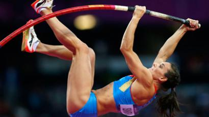 Russian pole vaulter, Elena Isinbayeva (Reuters / Mark Blinch)