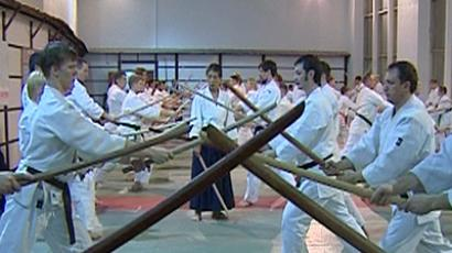 A Japanese aikido guru has held a masterclass in Moscow.