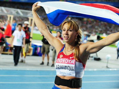 Russia's javelin queen grabs gold and championships record in Daegu