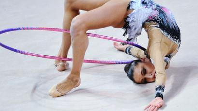 Evgenia Kanaeva performing at Moscow GP. RIA Novosti / Aleksandr Vilf