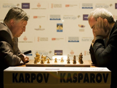 Kasparov takes 2-0 lead in nostalgic chess duel