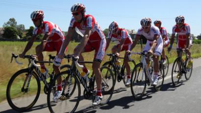 Training session by Russian bicycling team Katusha (RIA Novosti / Mikhail Mokrushin)