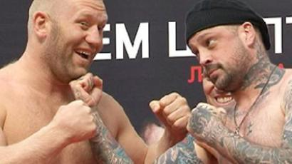 "Sergey Kharitonov(L) and Mark ""The Fight Shark"" Miller (RIA Novosti / Avrora)"