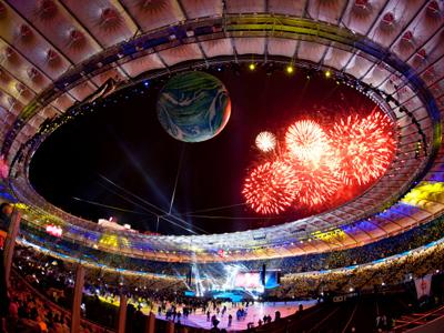 The opening ceremony of the Olympic National Sports Complex in Kiev (RIA Novosti / Andrey Voloshin)