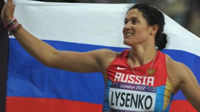 Russia's Tatyana Lysenko wins the gold medal in the hammer throw finals at the 30th Summer Olympic Games in London (RIA Novosti / Syisoev)