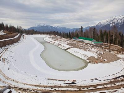 Olympic construction site in Sochi. (RIA Novosti / Mikhail Mokrushin)