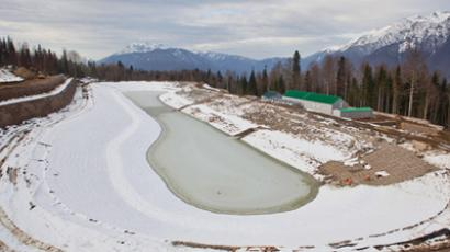 Olympic construction site in Sochi. (RIA Novosti / Mikhail Mokrushin)