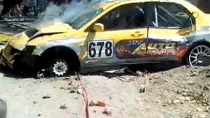 The car of Bosnian driver, Branimir Simic (Screenshot from YouTube user Nemanja Bajic)